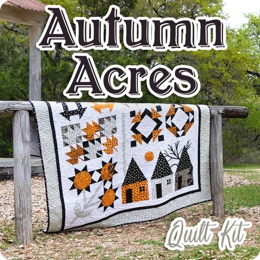 Autumn Acres Quilt Kit Featuring Old Made Fabrics