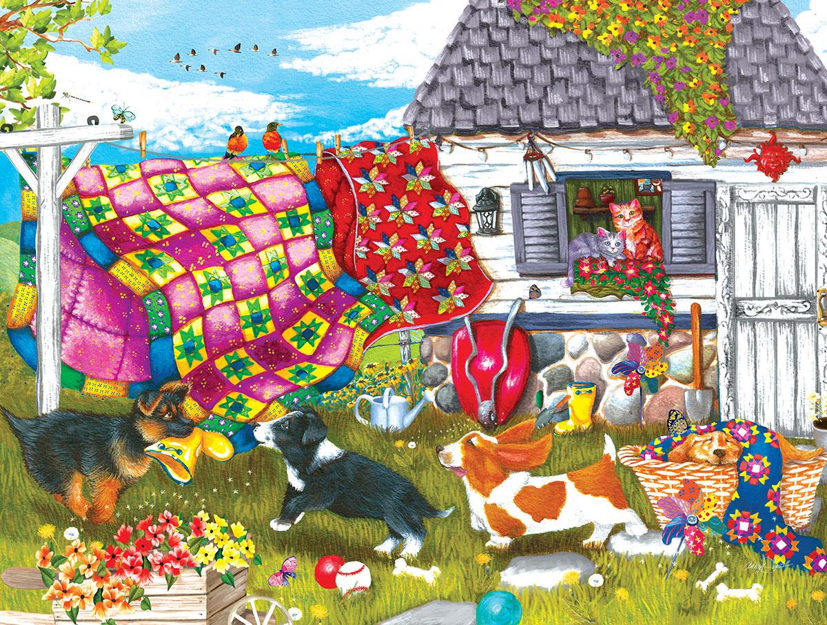 Backyard Pups Puzzle (200 pieces)