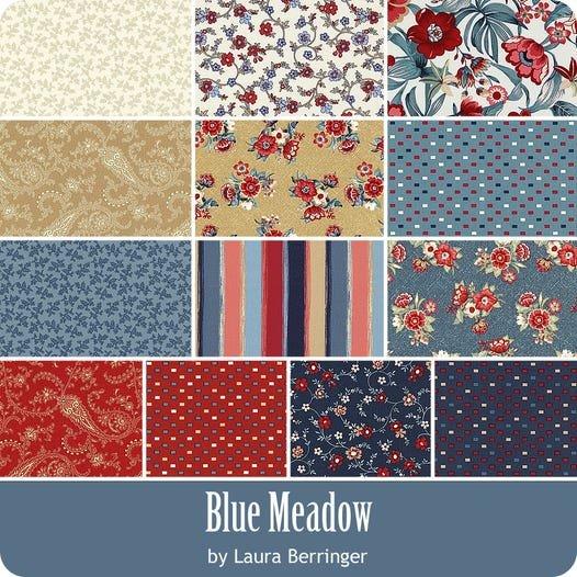 Blue Meadow Fat Quarter Bundle - 13 Pieces