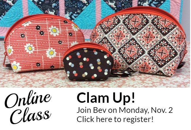 Clam up Online Class Join Bev Monday Nov 2nd.  Click here to register