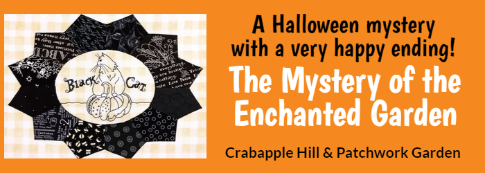 halloween mystery with a very happy ending.  The mystery of the enchanted garden.  Crabapple Hill & Patchwork Garden