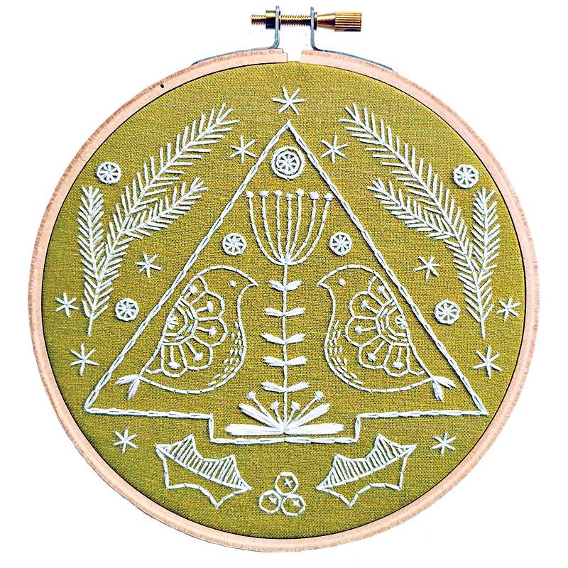 Folk Art Embroidery Kit