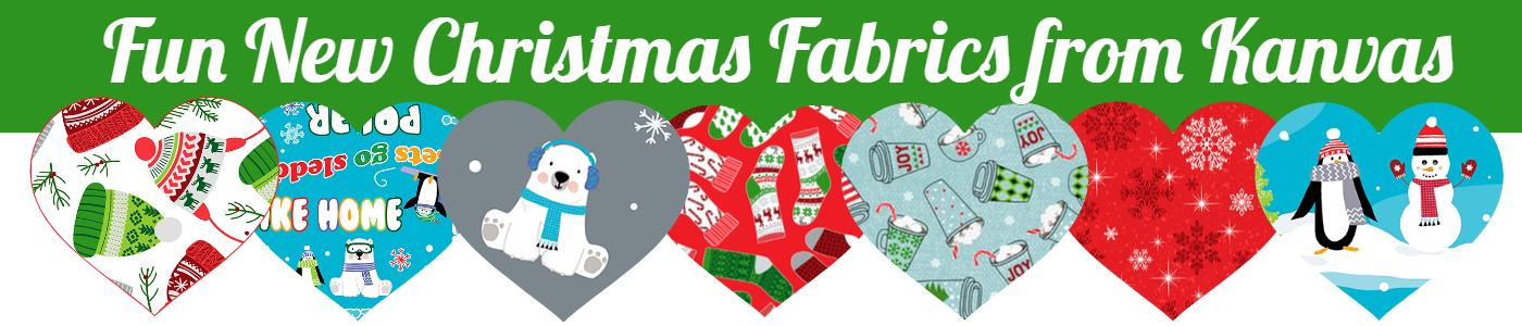 Fun New Christmas Fabrics From Kanvas