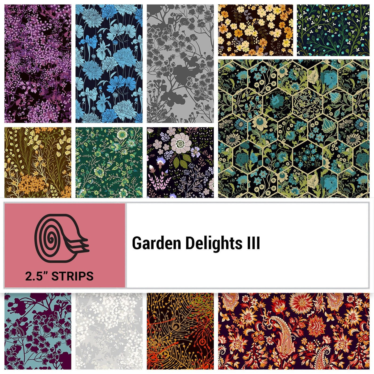 Garden Delights III Jelly Roll