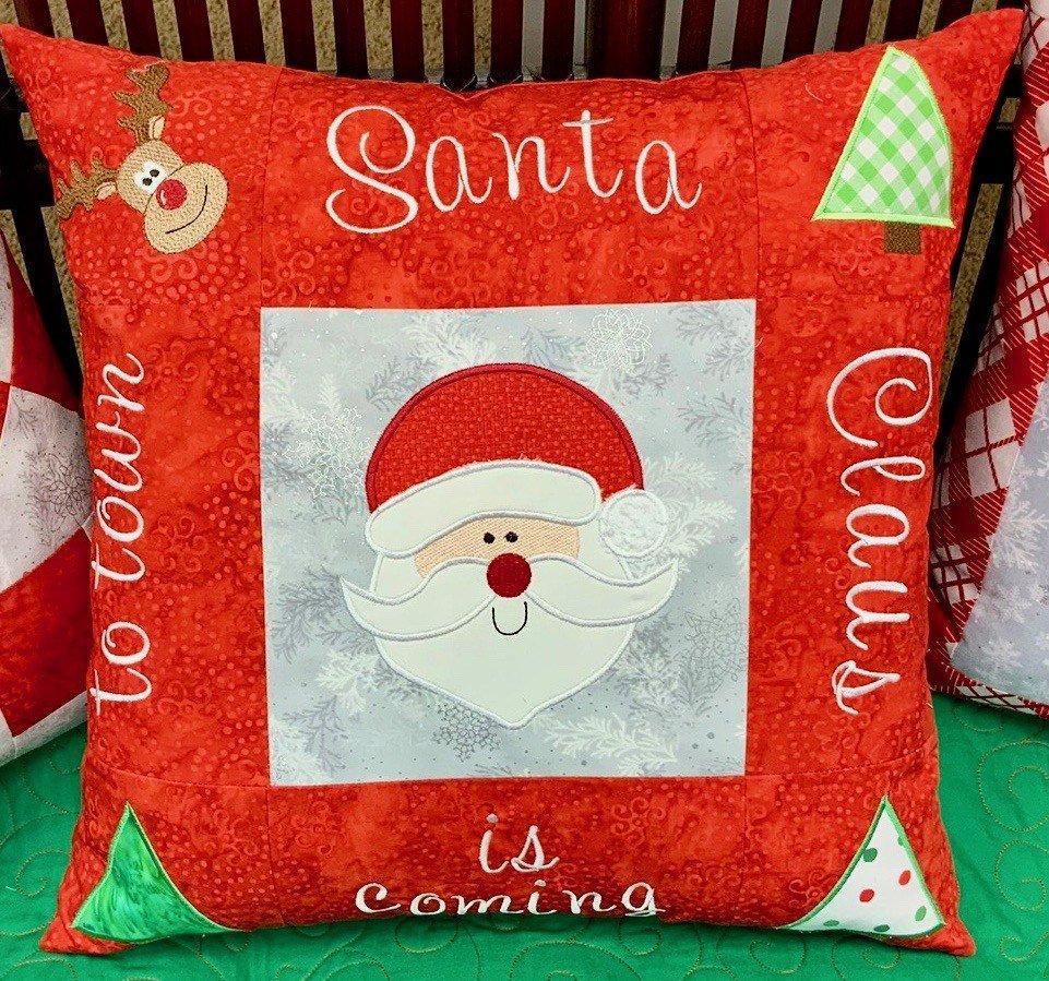 Three Pillows With Santa