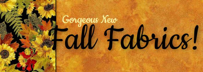 Gorgeous New Fall Fabrics!