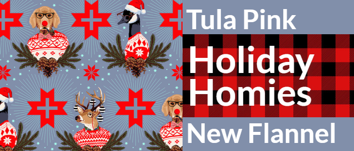 Holiday Homies Tula Pink New Flannels