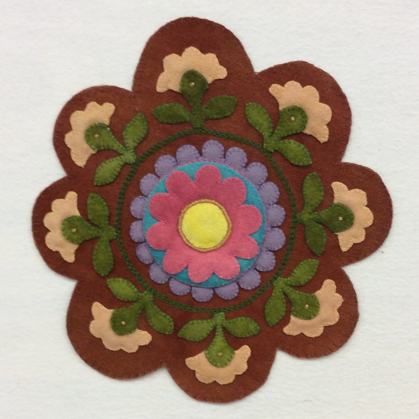Painted Pottery Table Mat Wool Kit - PGK