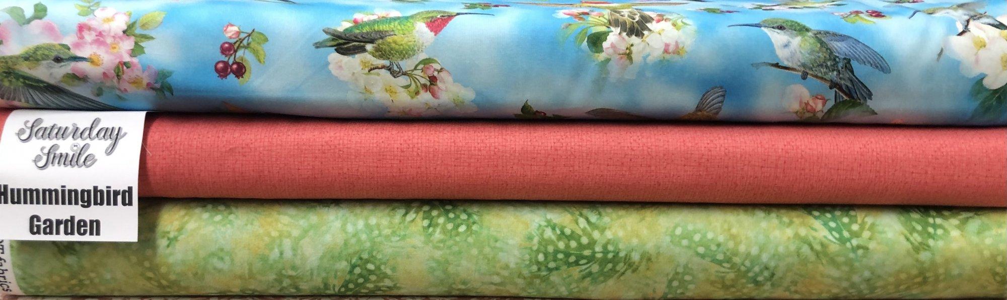 Hummingbird Garden 3-Yard Quilt Kit