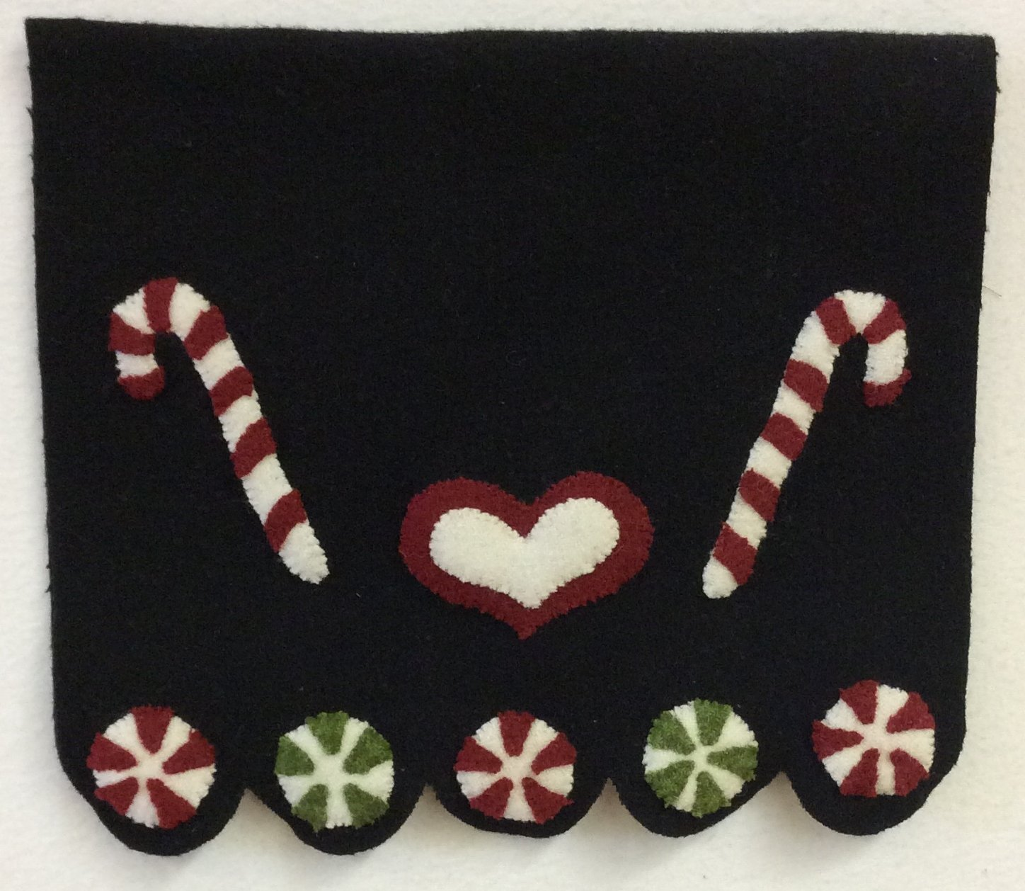 Christmas Candy Wool Table Runner