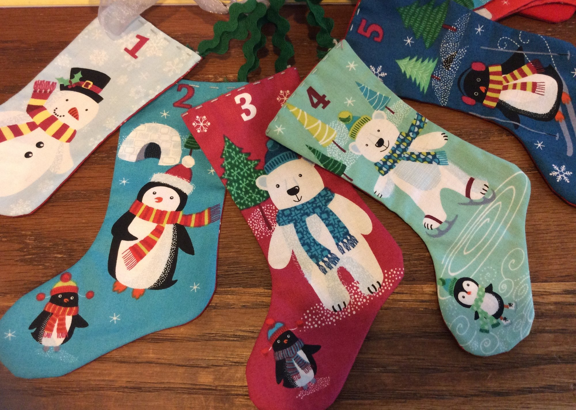 Frosty Advent Stocking Panel