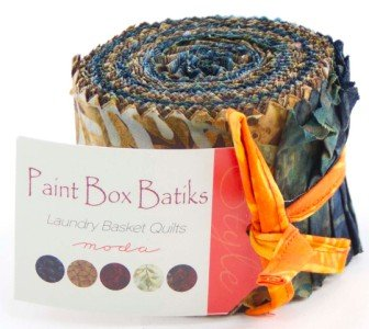 Paint Box Batiks Jelly Roll -- JRRW