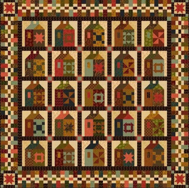 Journey's End Block of the Month Complete Kim Diehl Kit