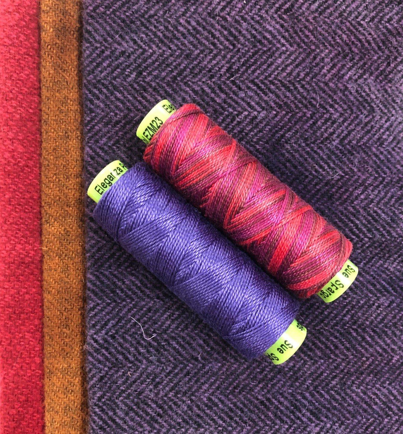 Purple Thread & Wool Bundle