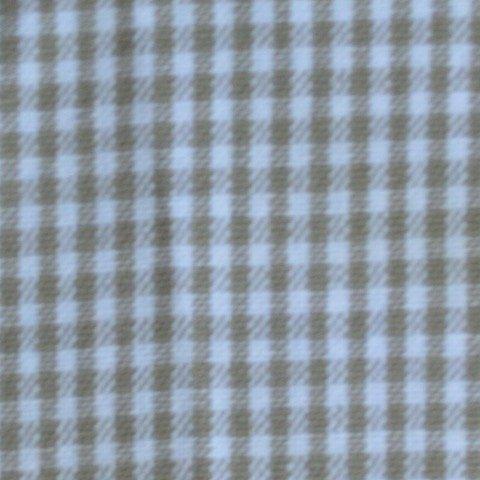 Tea Towel Mini Check - Taupe/White
