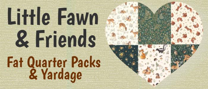 Little Fawn & Friends Fat Quarter bundle & Yardage