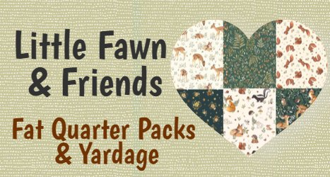 Little Fawn & Friends Fat Quarter Packs and Yardage