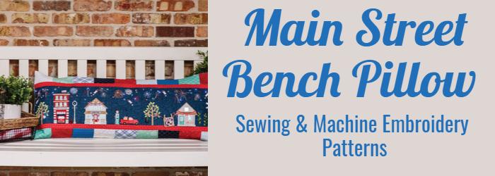 Main Street Bench Pillow Patterns