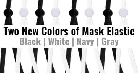 Two New Colors of Mask Elastic Black White Navy Gray