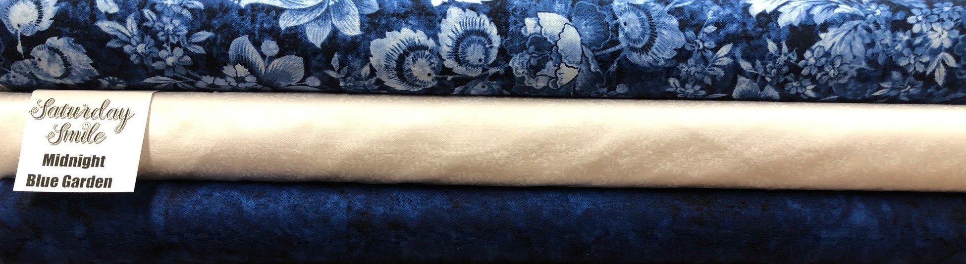 Midnight Blue Garden 3-yard quilt kit