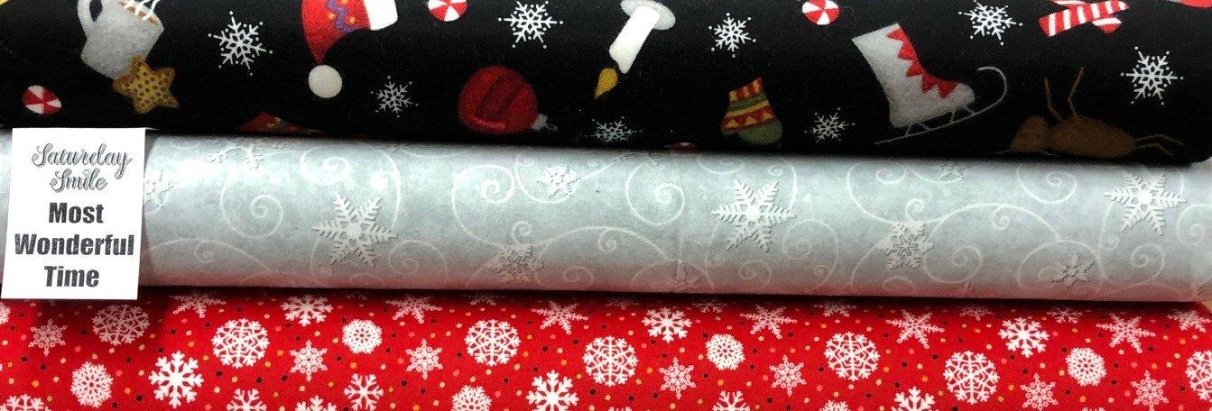 Most Wonderful Time Flannel 3-Yard Kit