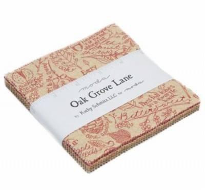 Oak Grove Lane Charm Pack by Kathy Schmitz (5 squares)