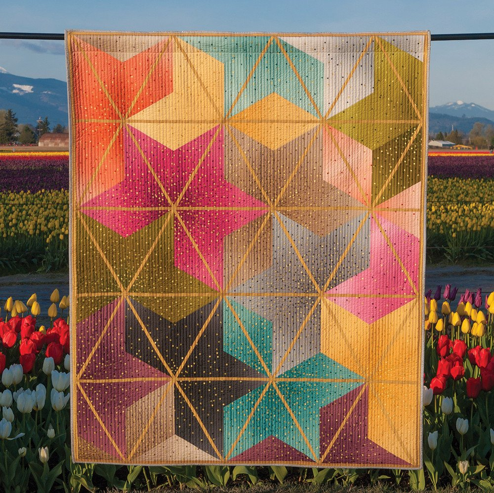 Ombre Blossom Quilt Kit