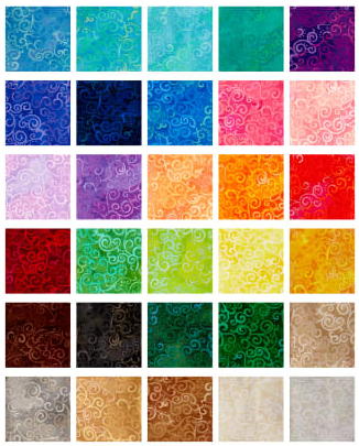Ombre Scroll Fat Quarter Collection