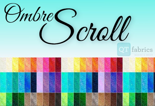 Ombre Scroll by QT Fabrics
