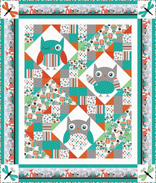 Owl's Woodland Adventure Quilt