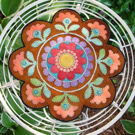 Painted Pottery Table Mat