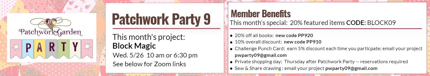 Patchwork Party April 2021 Banner