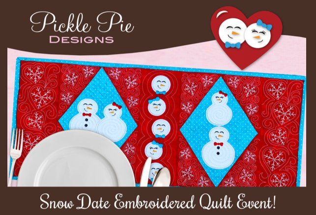 Pickle Pie Snow Date Embroidery Event