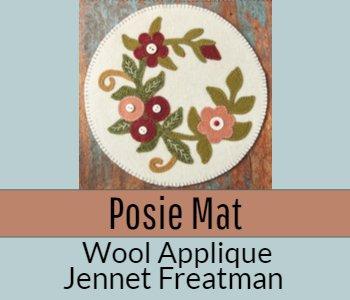 Posie Mat Wool Applique Jennet Freatman
