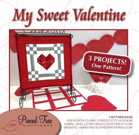 My Sweet Valentine Pattern -- 3 projects in one pattern