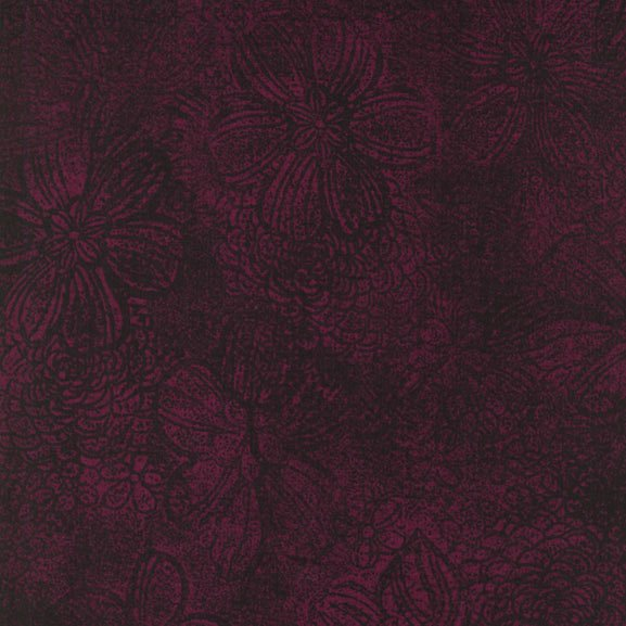 Jinny Beyer's Quilters Palette Flower Texture Claret