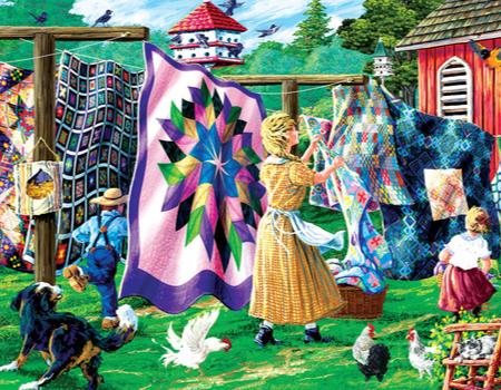 Quilter's clothesline