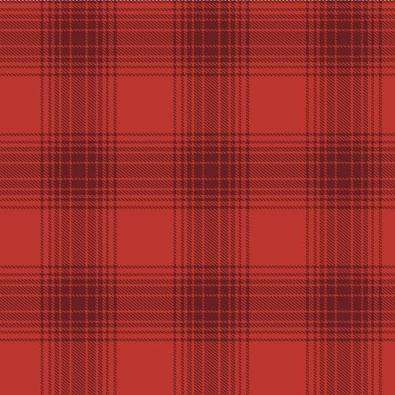 Mix and Mingle Red Flannel Scarf Kit - 2 Yard Cut