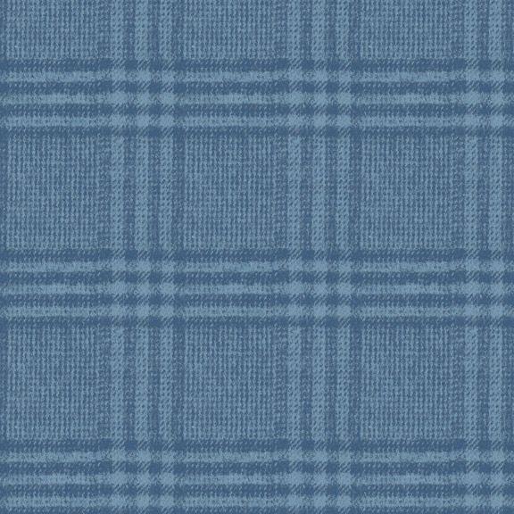 Indigo Flannel Scarf Kit -- 2 Yard Cut