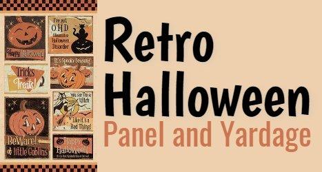 Retro Halloween Panel and Fabrics