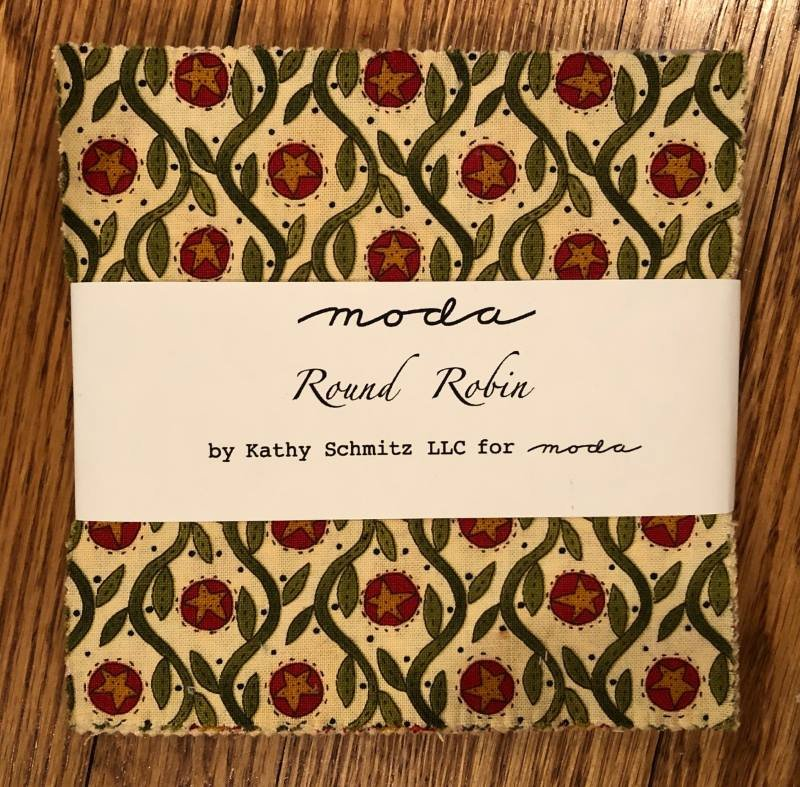 Round Robin Charm Pack by Kathy Schmitz (5 squares)
