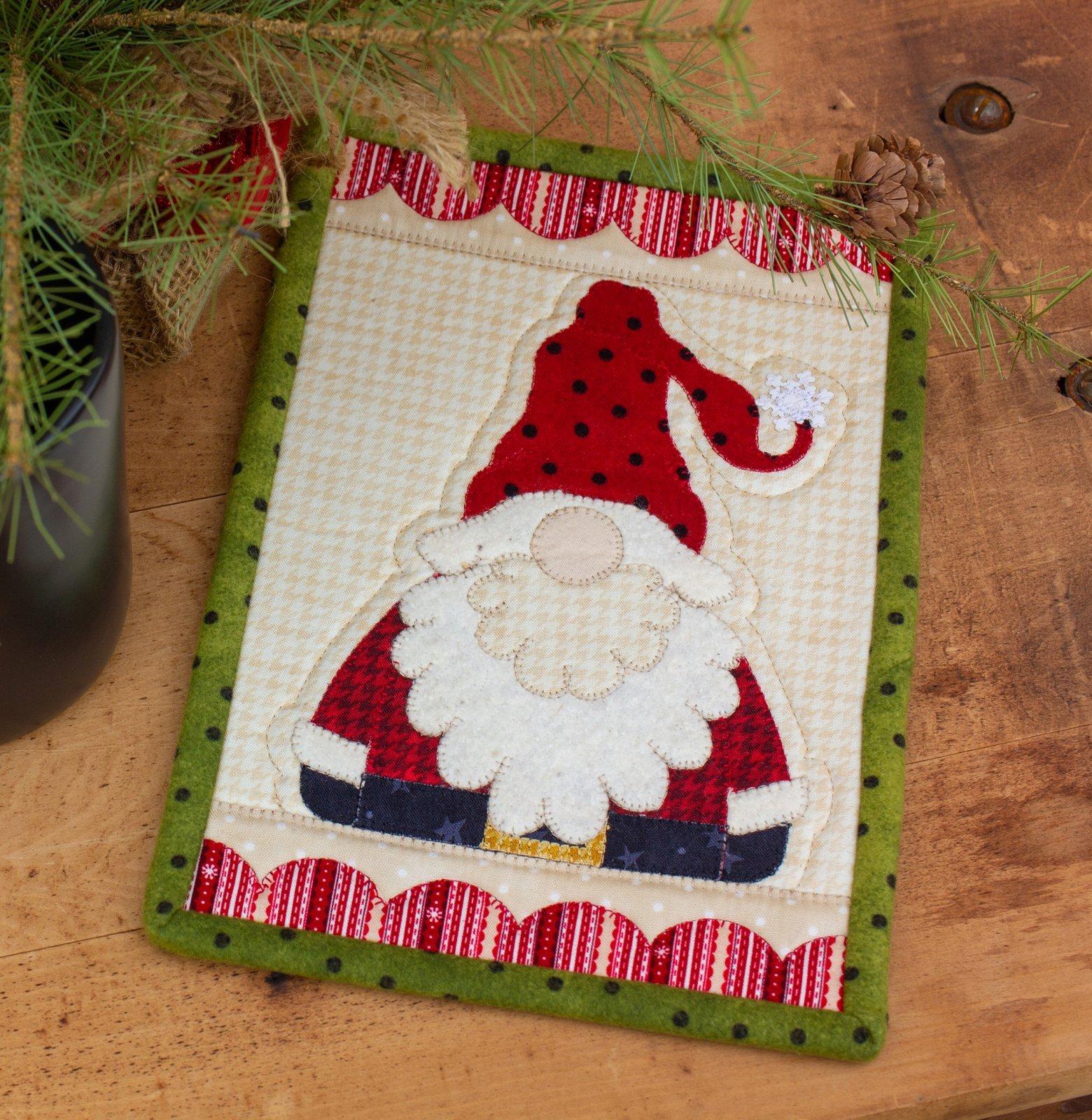 Santa Gnome Mug Rug Kit