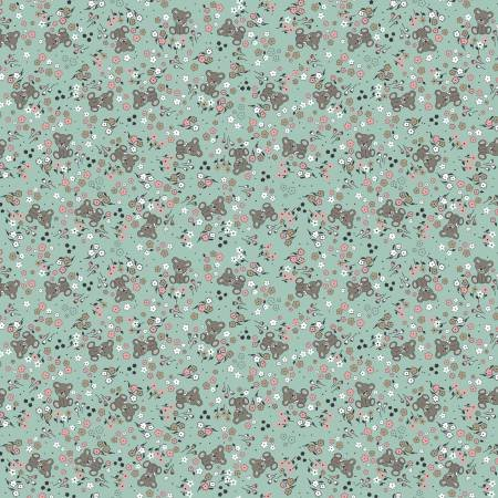 Sleep Tight Mint Backing - 3 Yard Cut