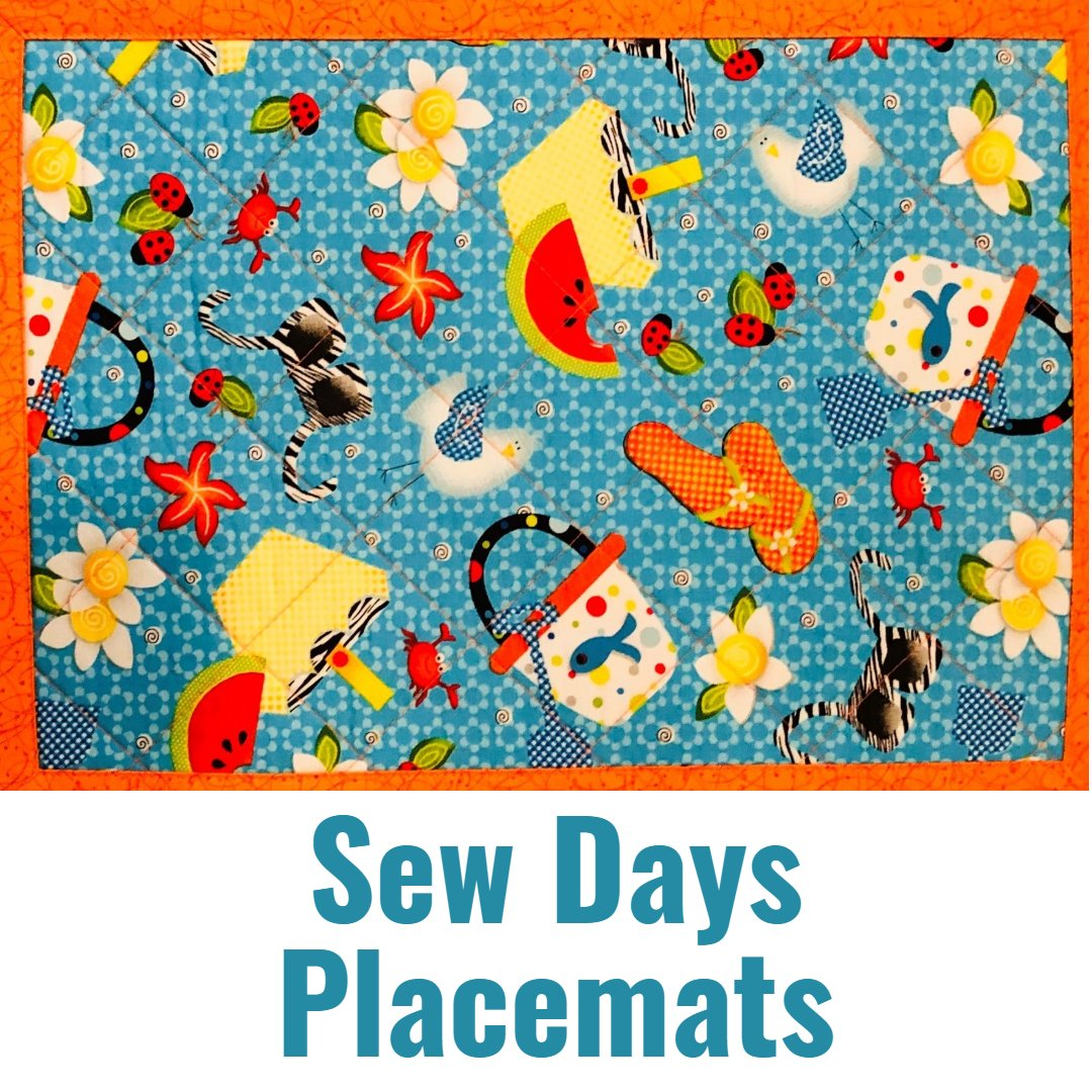 sEW dAY mITRED PLACEMATS
