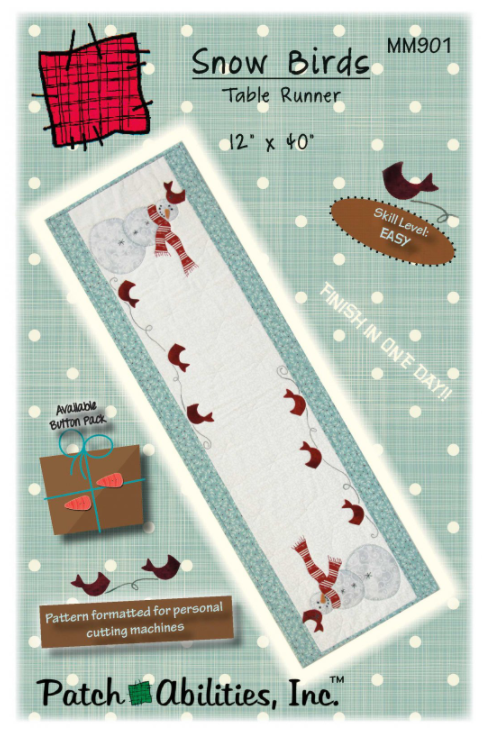 Snow Birds Table Runner Kit