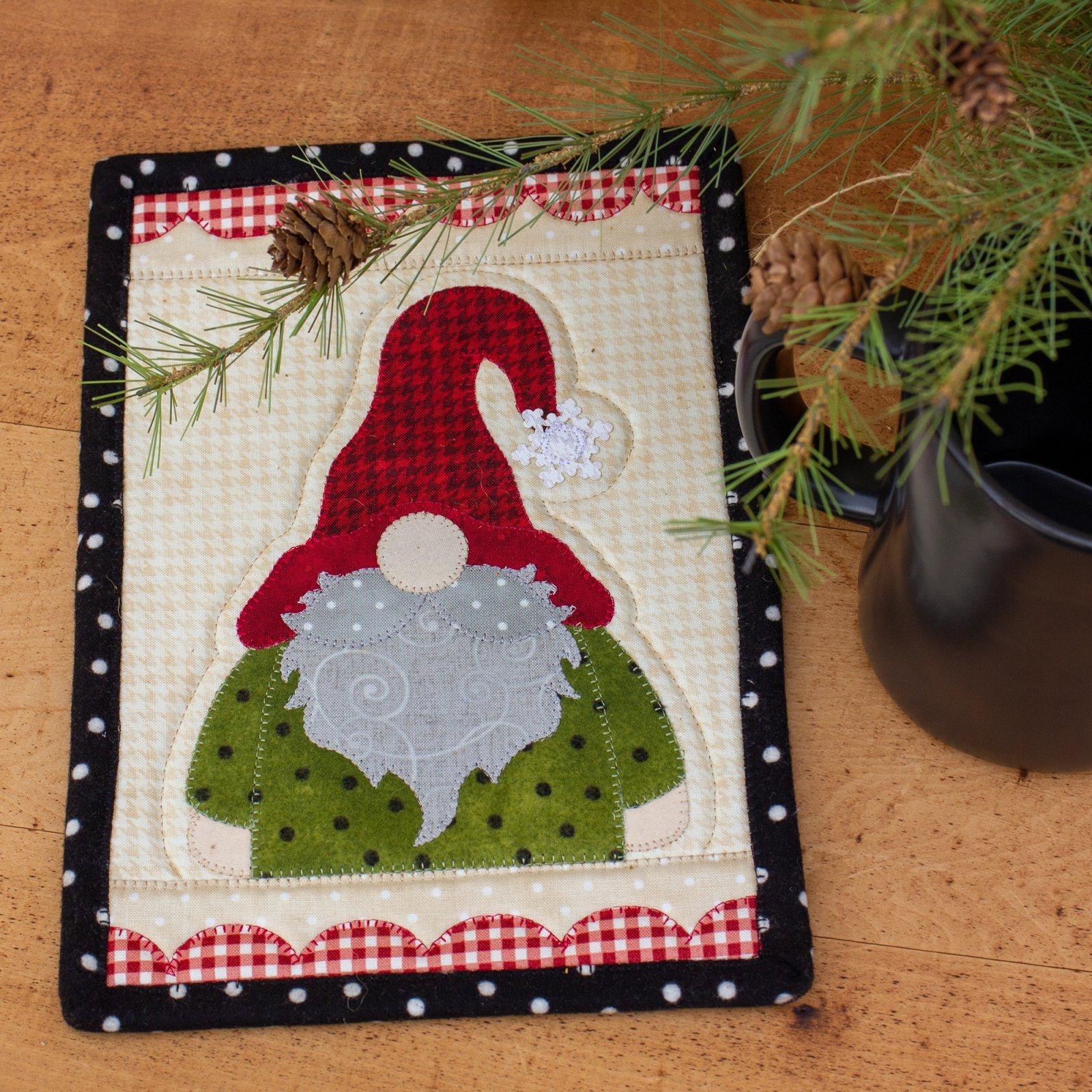 Snowflake Gnome Mug Rug Kit