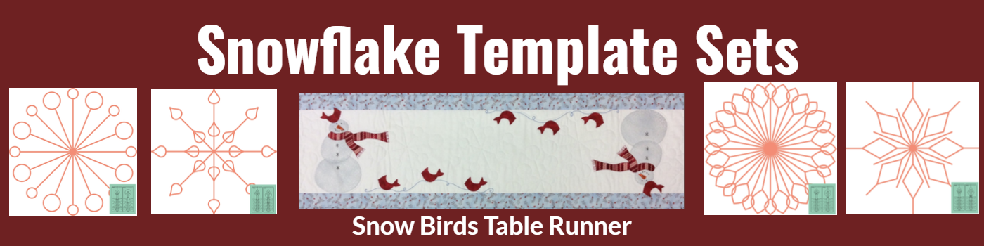 Snowflake Template Sets - Snow Bird Cardinal Runner