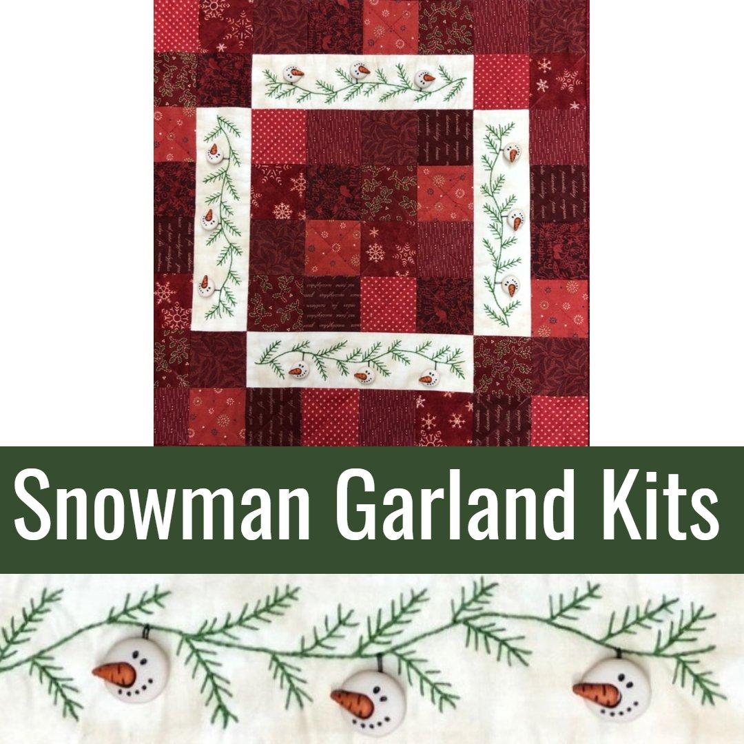 Snowman Garland Kits
