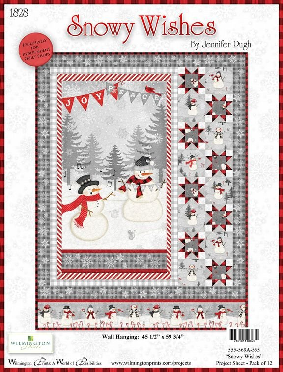 Snowy Wishes Quilt 45.5 x 59.75