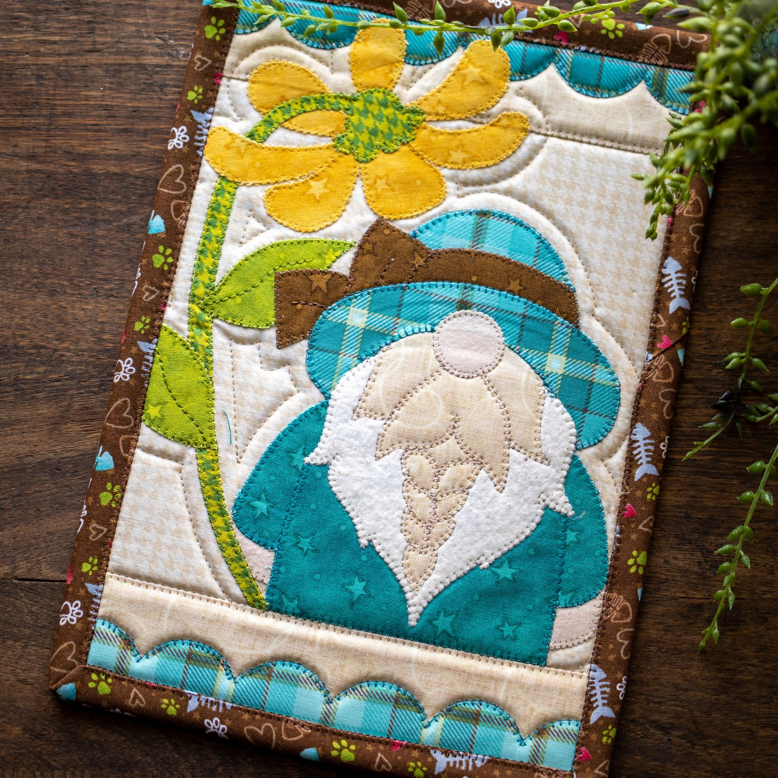 Spring Gnome Mug Rug Kit
